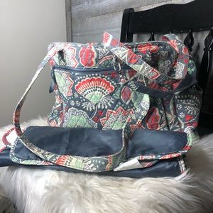 Vera Bradley diaper bag with interior diaper pad